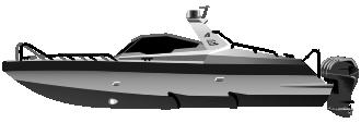 Алюминиевый катер 1221