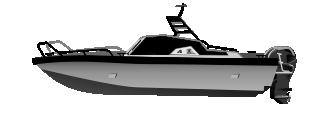 Алюминиевый катер 860