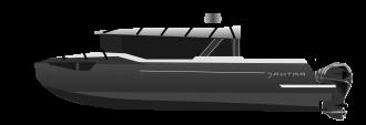 Алюминиевый катер J-30 Black Vision